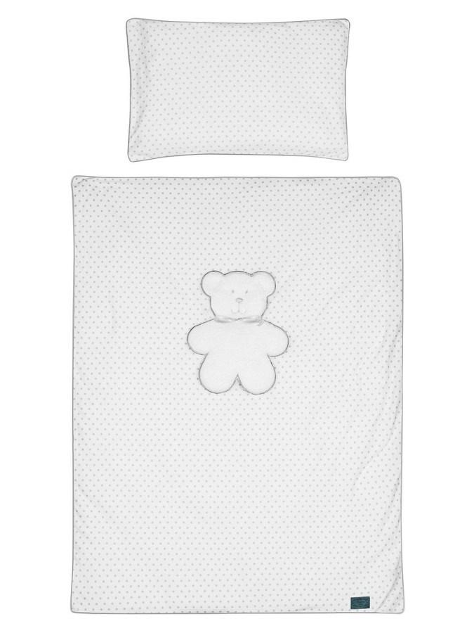 6-dílné ložní povlečení Belisima Bílý medvídek 100/135