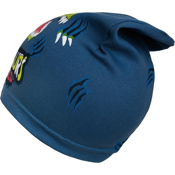 Jarní dětská čepička New Baby dino modrá
