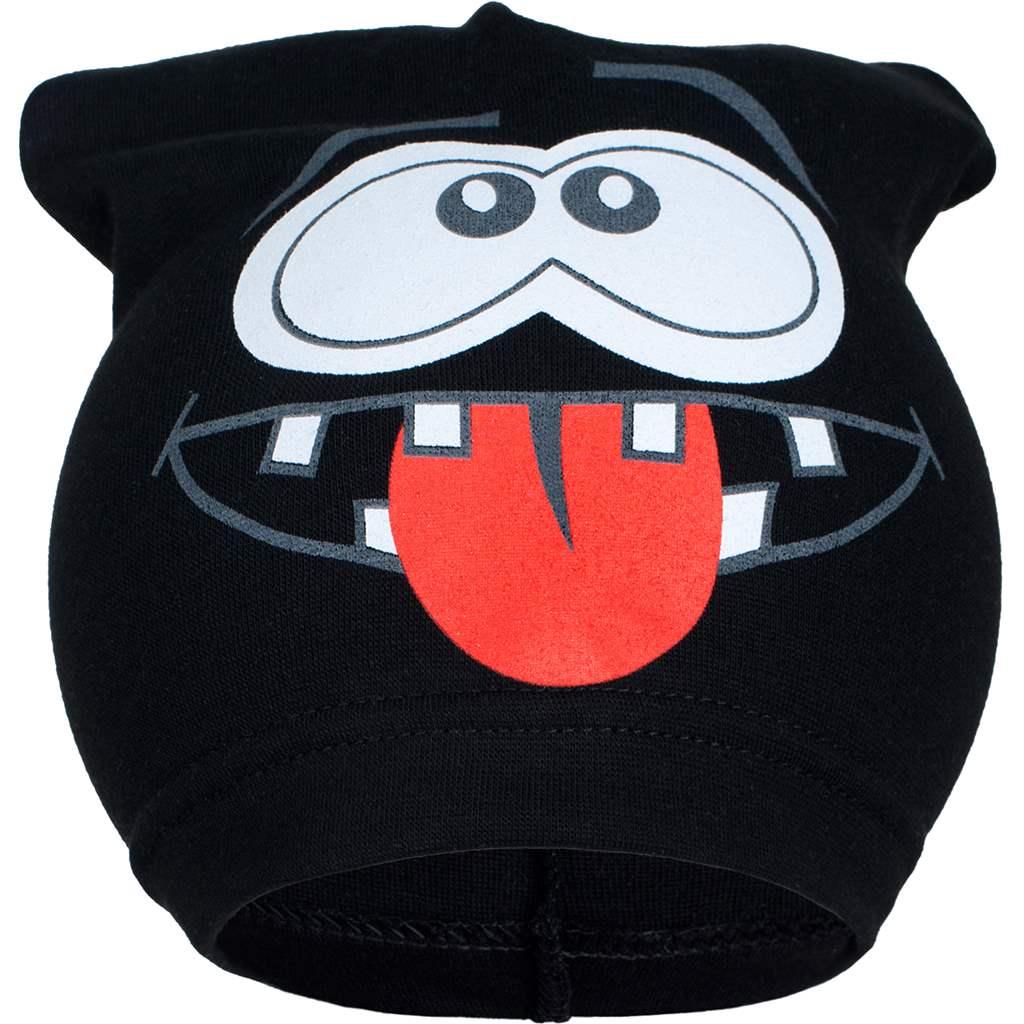 Jarní dětská čepička New Baby smíšek černá, Velikost: 104 (3-4r)