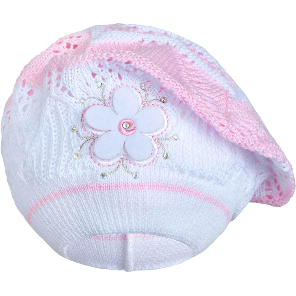 Pletená čepička-baret New Baby světle růžová, Velikost: 104 (3-4r)
