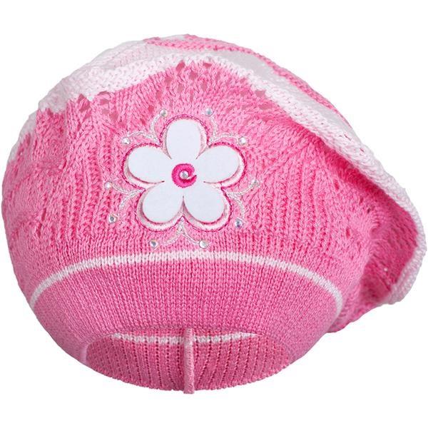 Pletená čepička-baret New Baby tmavě růžová, Velikost: 104 (3-4r)