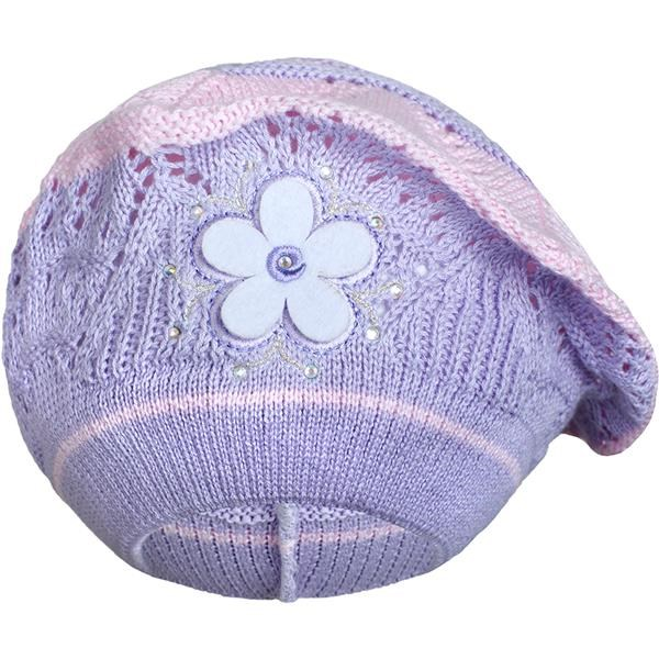 Pletená čepička-baret New Baby fialová, Velikost: 104 (3-4r)