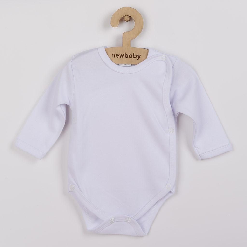 Kojenecké body celorozepínací New Baby Classic bílé, vel. 50