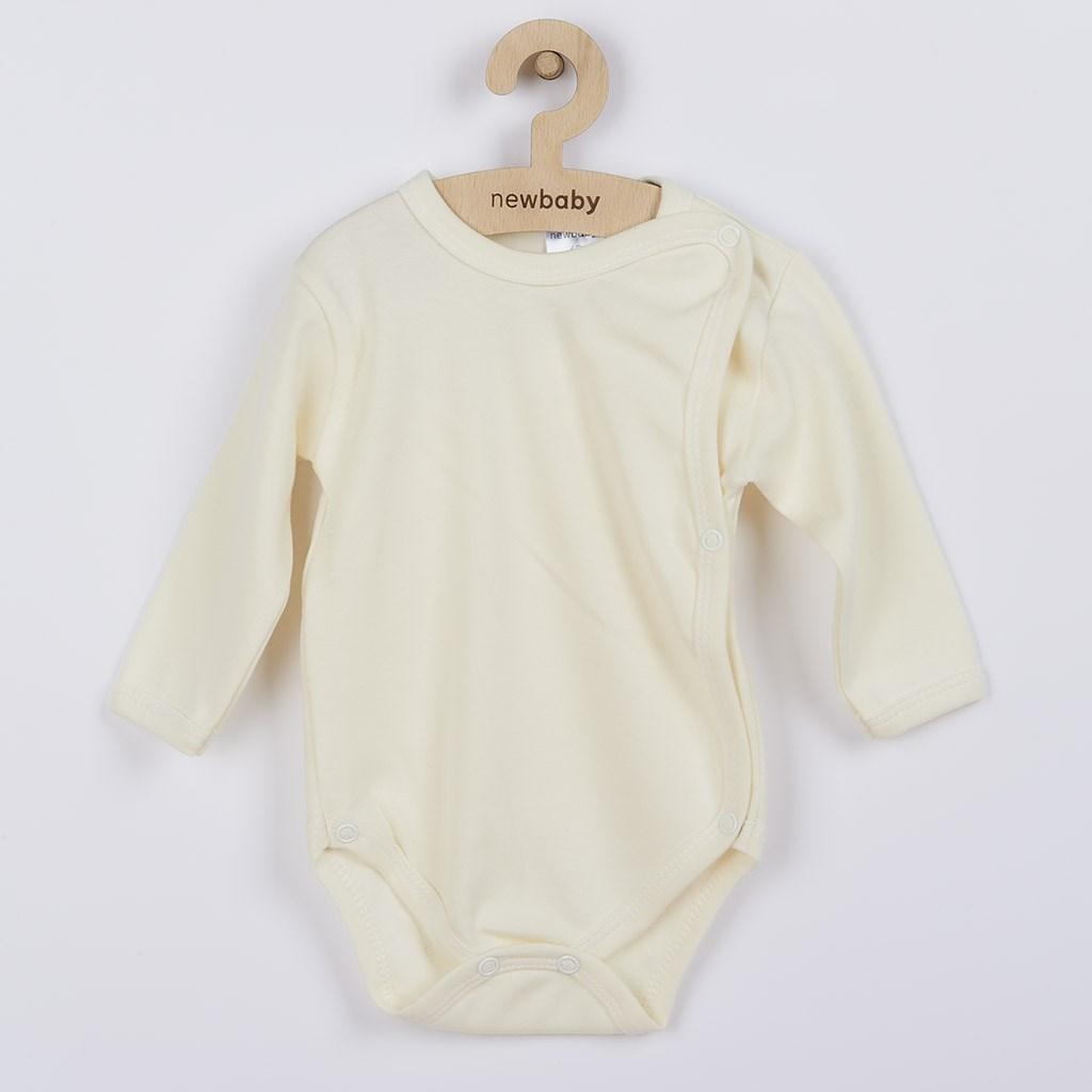Kojenecké body celorozepínací New Baby Classic béžové, vel. 56 (0-3m)