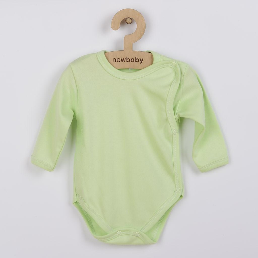 Kojenecké body celorozepínací New Baby Classic zelené