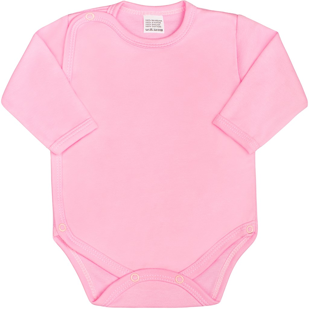 Kojenecké body celorozepínací New Baby Classic růžové vel. 62 (3-6m)