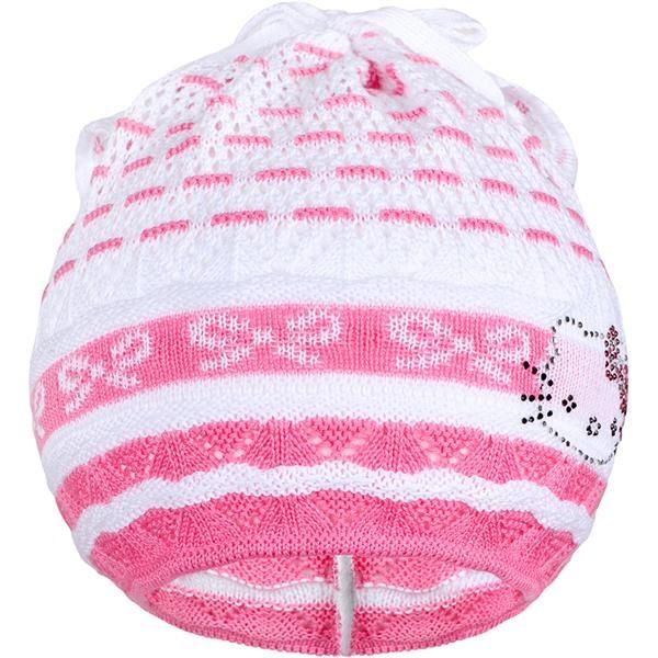Pletená čepička-šátek New Baby kočička růžová, Velikost: 104 (3-4r)