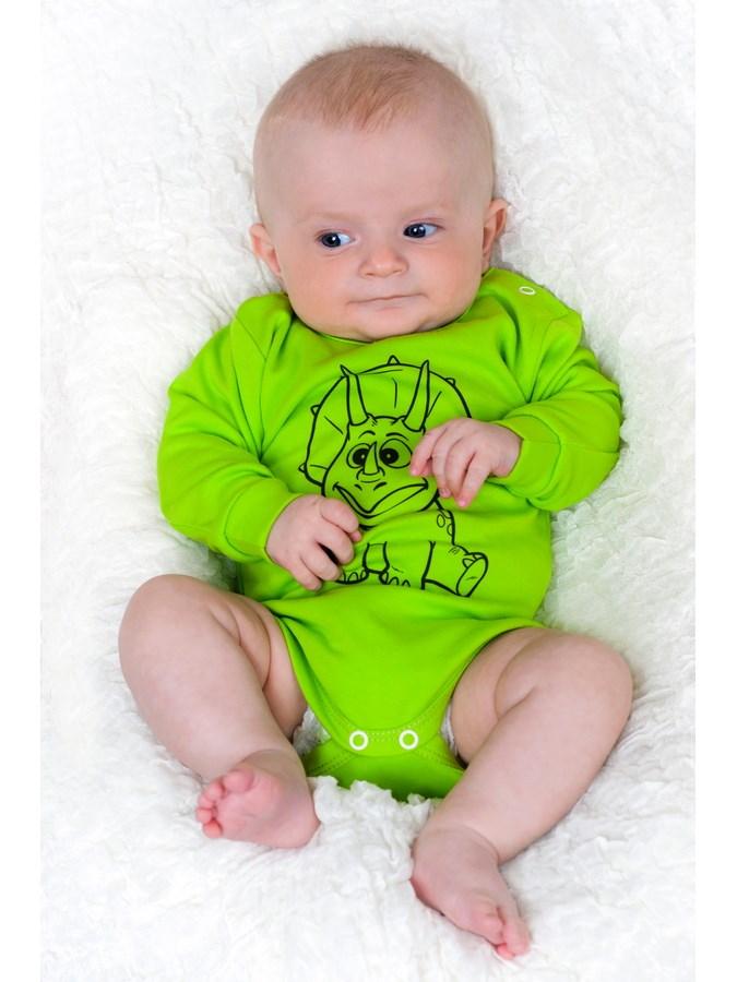 Kojenecké body s dlouhým rukávem New Baby Zvířátko Pejsek modré, vel. 50