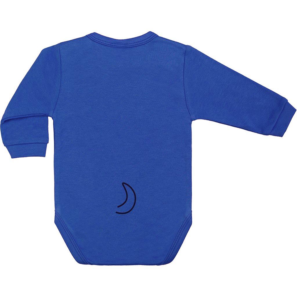 Kojenecké body s dlouhým rukávem New Baby Zvířátko Pejsek modré, vel. 74 (6-9m)