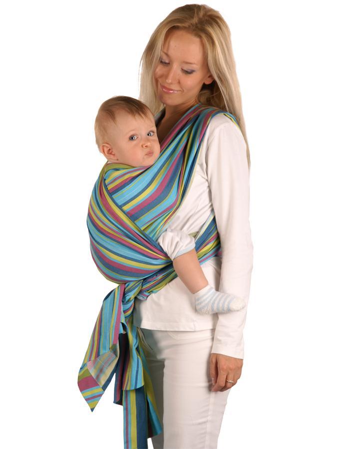 Šátek Womar na nošení dětí Be Close růžovo-šedý