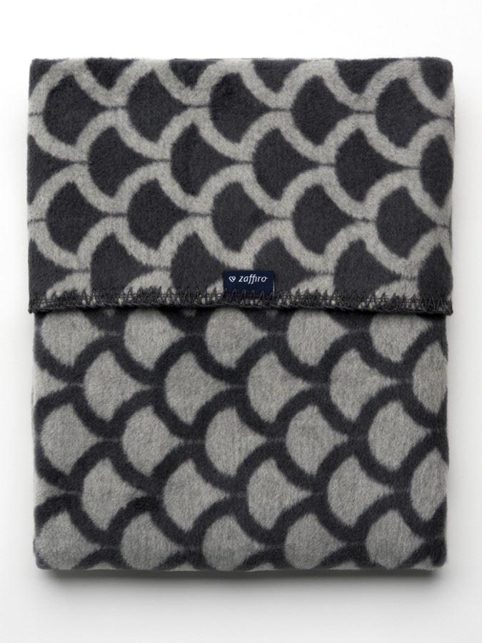 Dětská bavlněná deka se vzorem Womar 75x100 šedo-grafitová