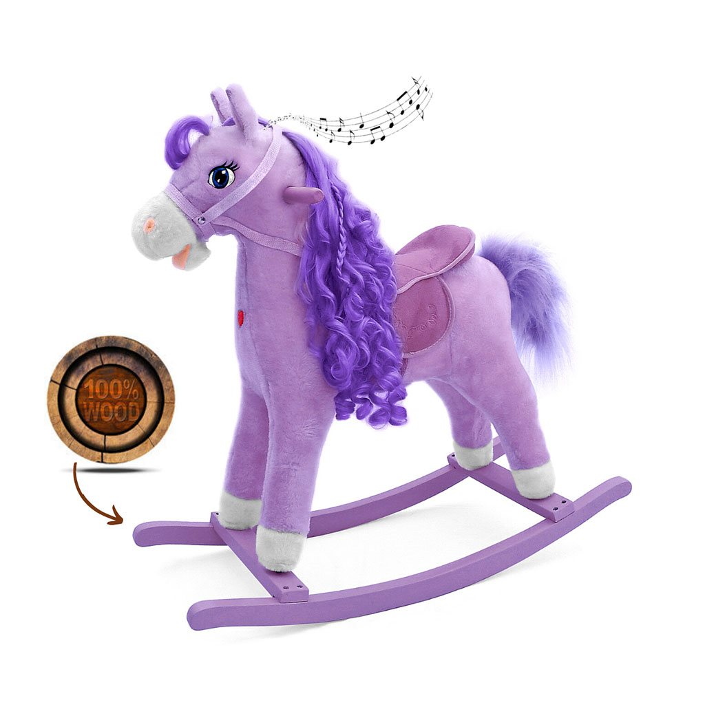 Houpací koník s melodií Milly Mally Princess violet
