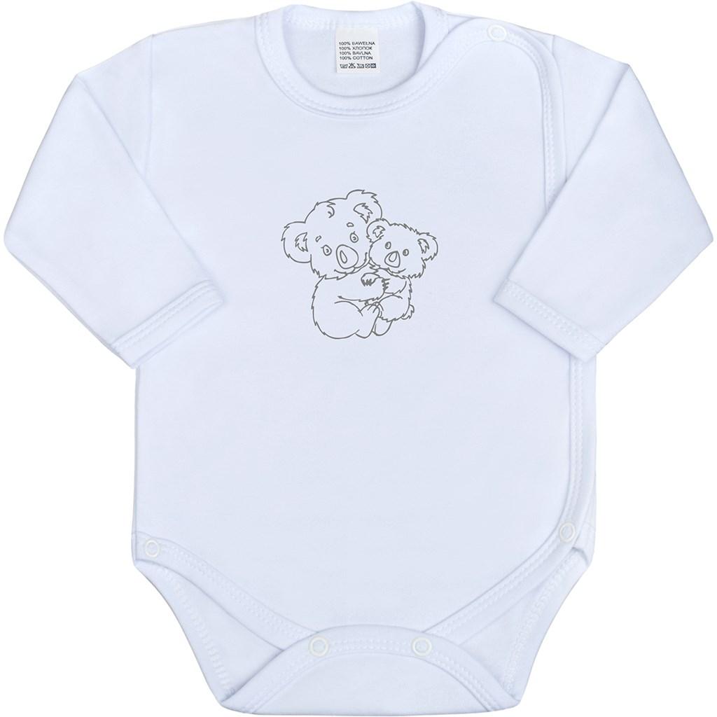 Kojenecké body celorozepínací New Baby Malá Zvířátka bílé