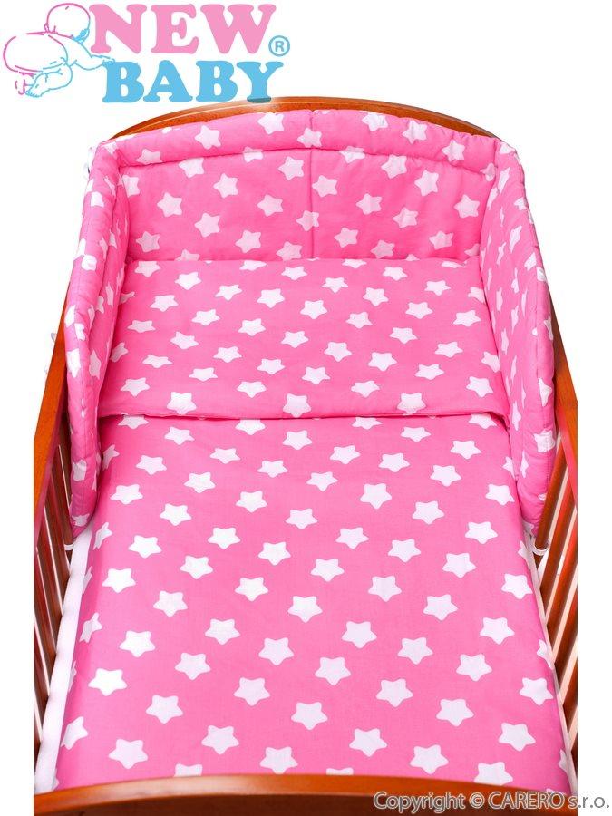 2-dílné ložní povlečení New Baby 90/120 cm růžové s hvězdičkami