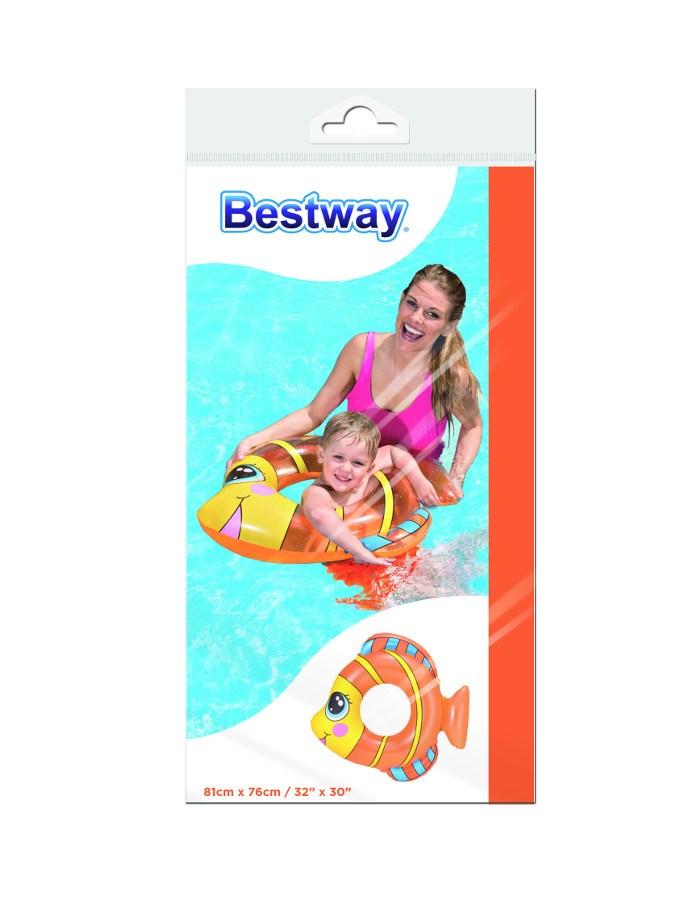 Dětský nafukovací kruh Bestway ve tvaru rybky oranžový