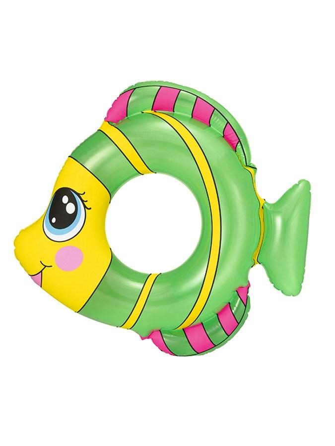 Dětský nafukovací kruh Bestway ve tvaru rybky zelený