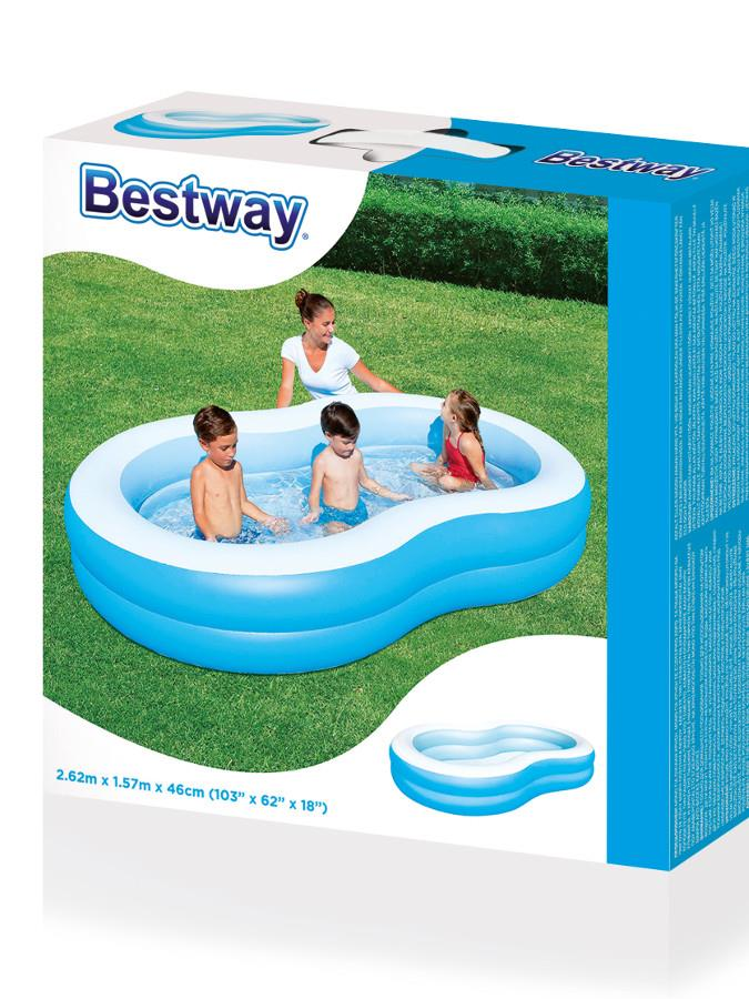 BESTWAY Rodinný nafukovací bazén Big Lagune Bestway