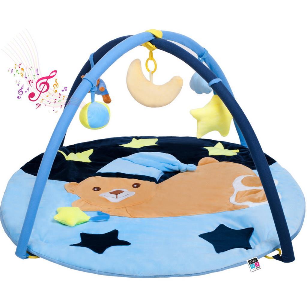 Hracia deka s melódiou spaci medvedík modrá