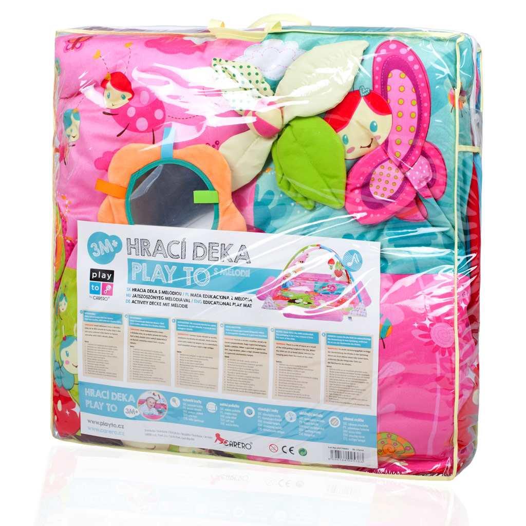 Velká luxusní hrací deka s melodií PlayTo zvířátka