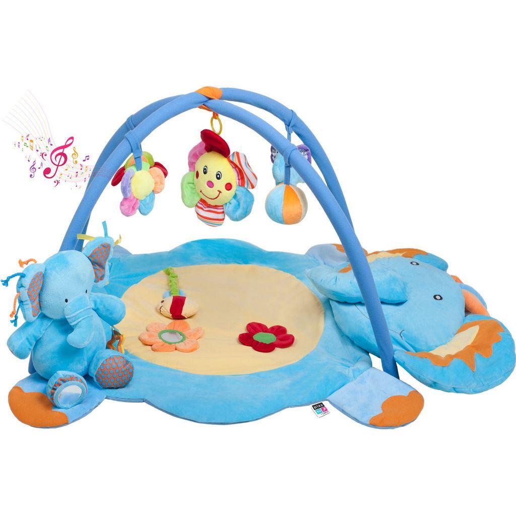 Hrací deka s melodií PlayTo slůně s hračkou