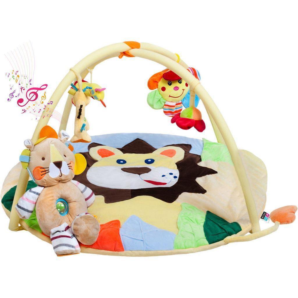 Hrací deka s melodií PlayTo lvíče s hračkou