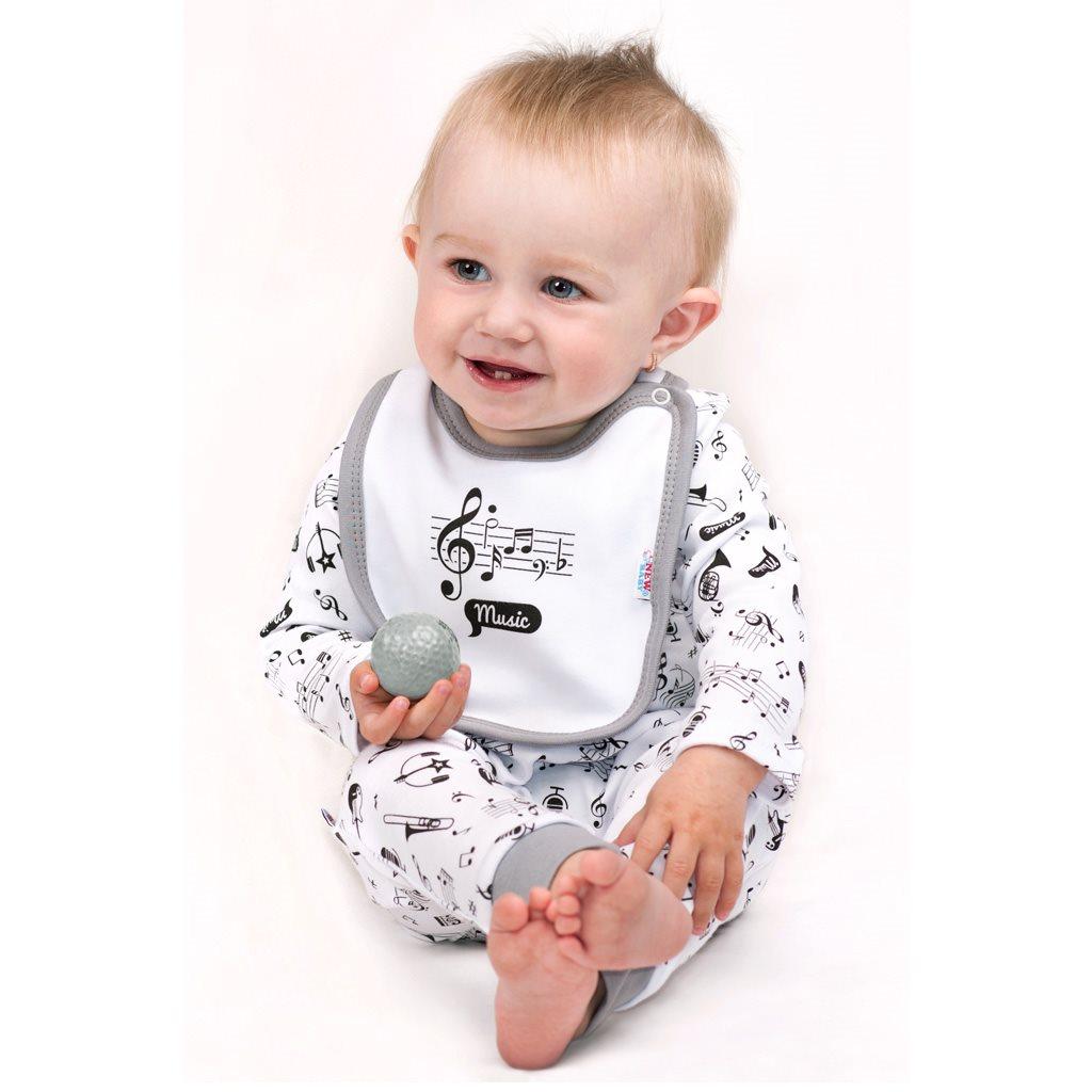 Kojenecký bavlněný kabátek New Baby Music