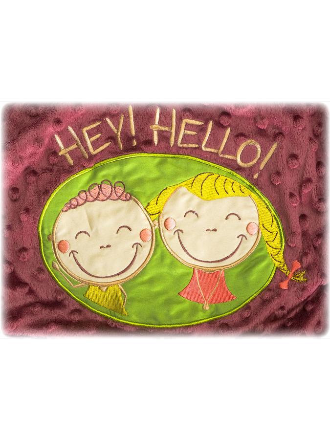 Dětská oboustranná deka Sensillo Hey Hello 75x100 cm
