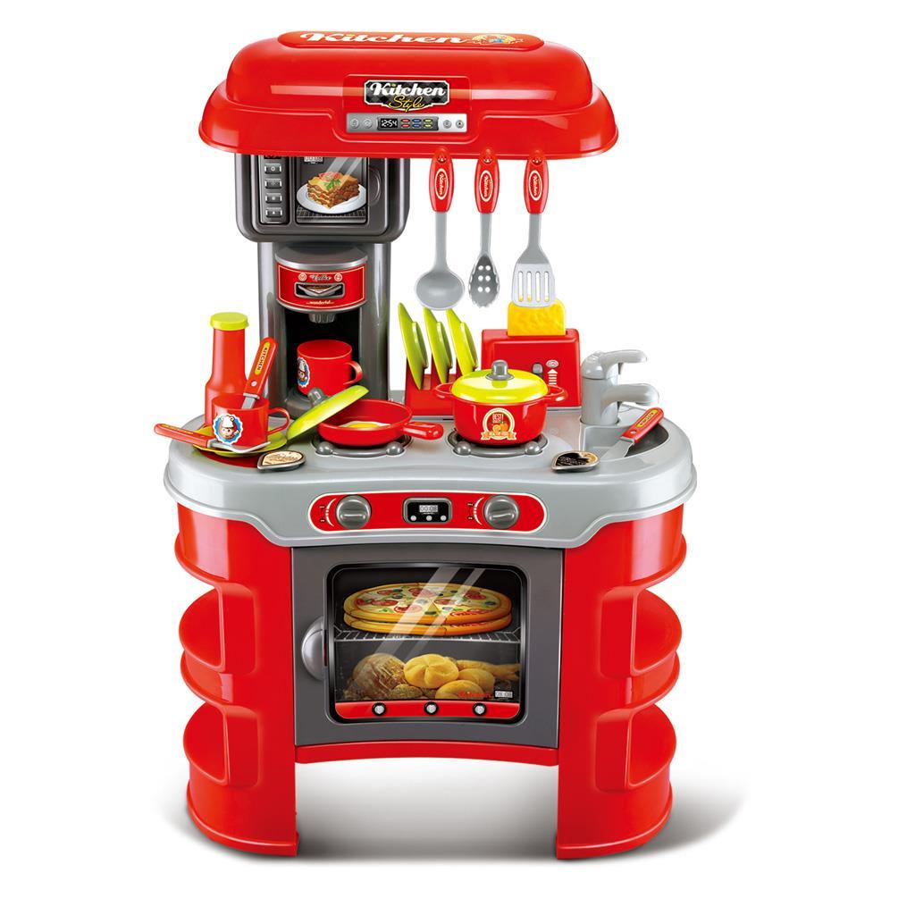 Dětská kuchyňka Little Chef Baby Mix červená 32 ks