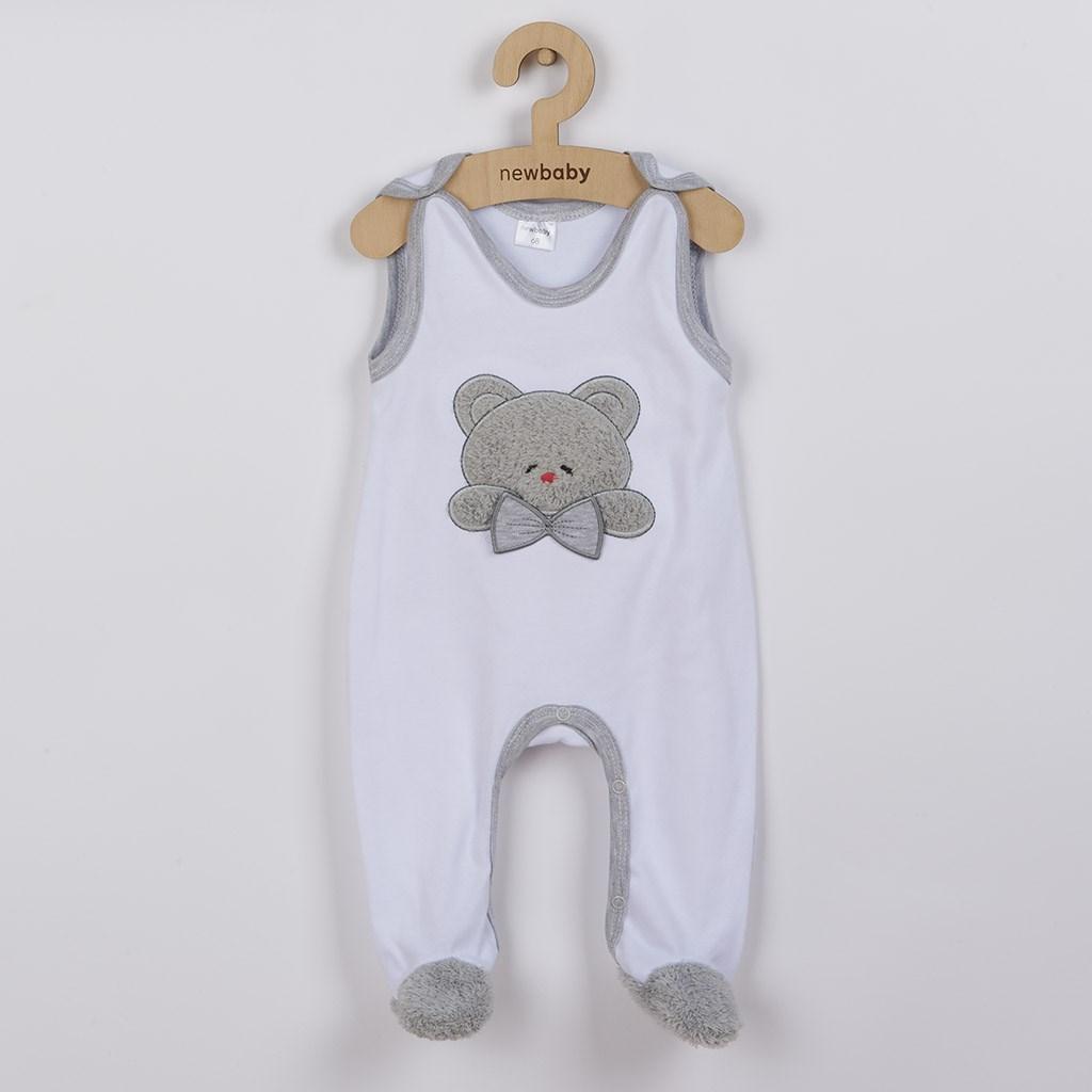Luxusní kojenecké dupačky New Baby Honey Bear s 3D aplikací, Velikost: 68 (4-6m)