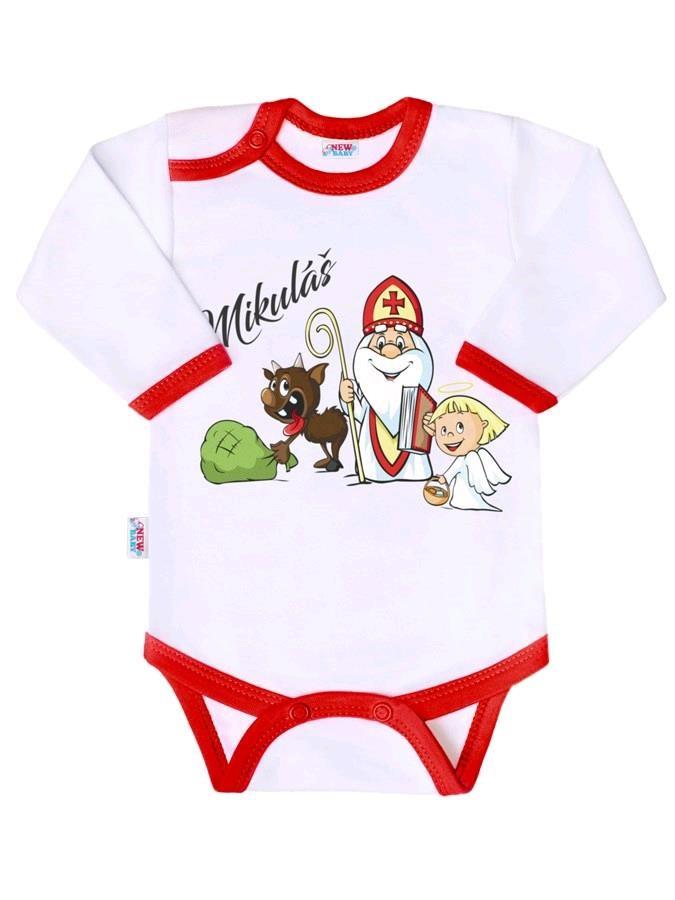 Body s potiskem New Baby Mikuláš, Velikost: 62 (3-6m)