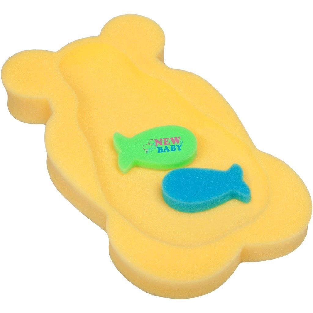 Pěnová podložka maxi New Baby medvěd žlutý