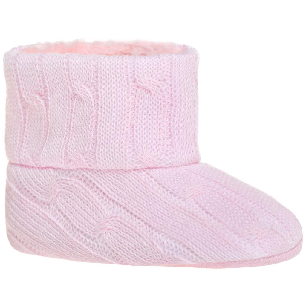 Dětské zimní capáčky Bobo Baby 6-12m růžový úplet vel. 80 (9-12m)