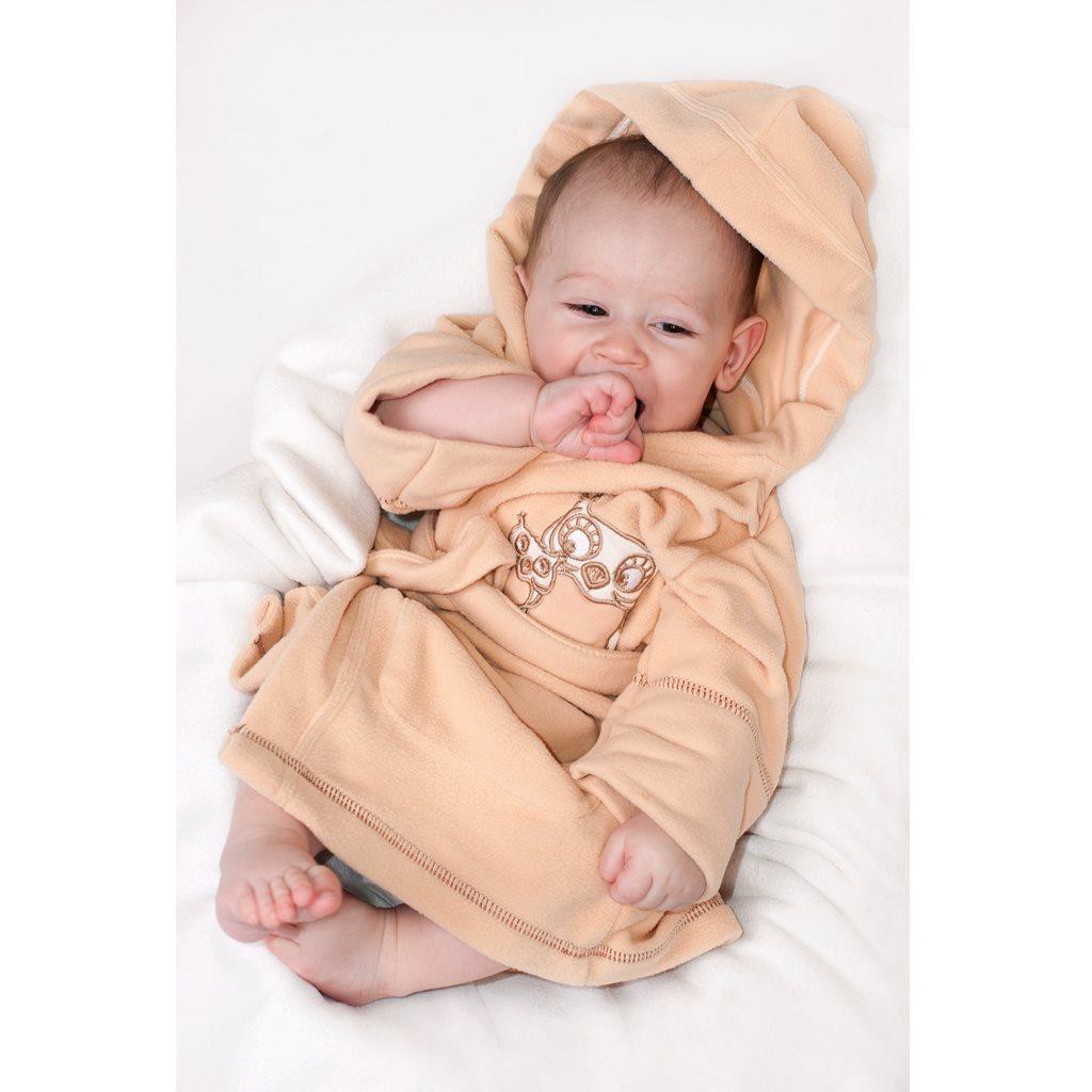 Dětský župan New Baby Sovičky šedý