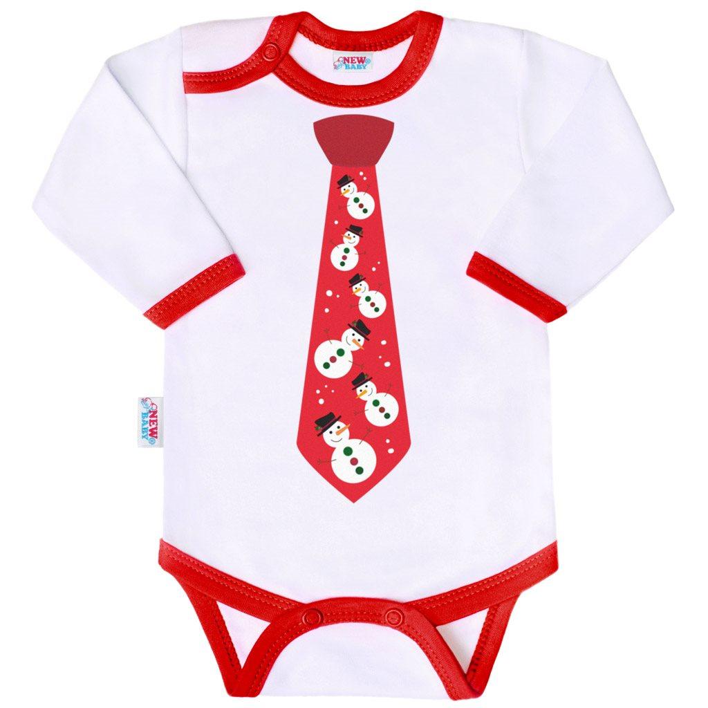 Body s potiskem New Baby s kravatou