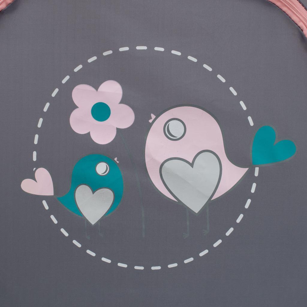 Dětská cestovní postýlka Baby Mix Vrabci růžová