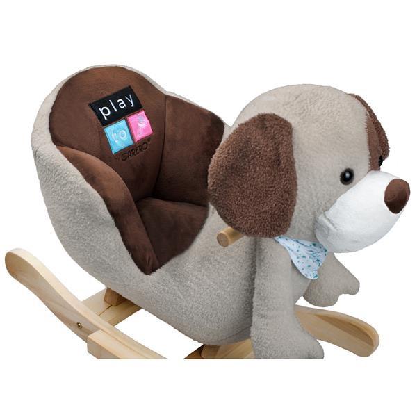 Houpací hračka PlayTo pejsek šedo-hnědý