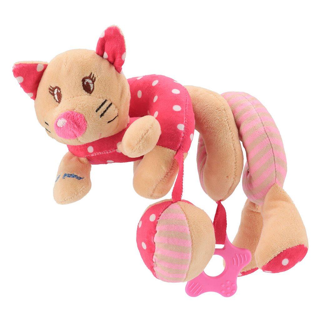 Hračka na postýlku Spirála Baby Mix Kočička růžová