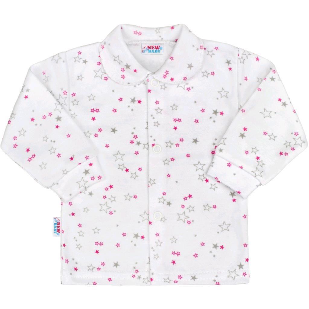 Kojenecký kabátek New Baby Magic Star růžový