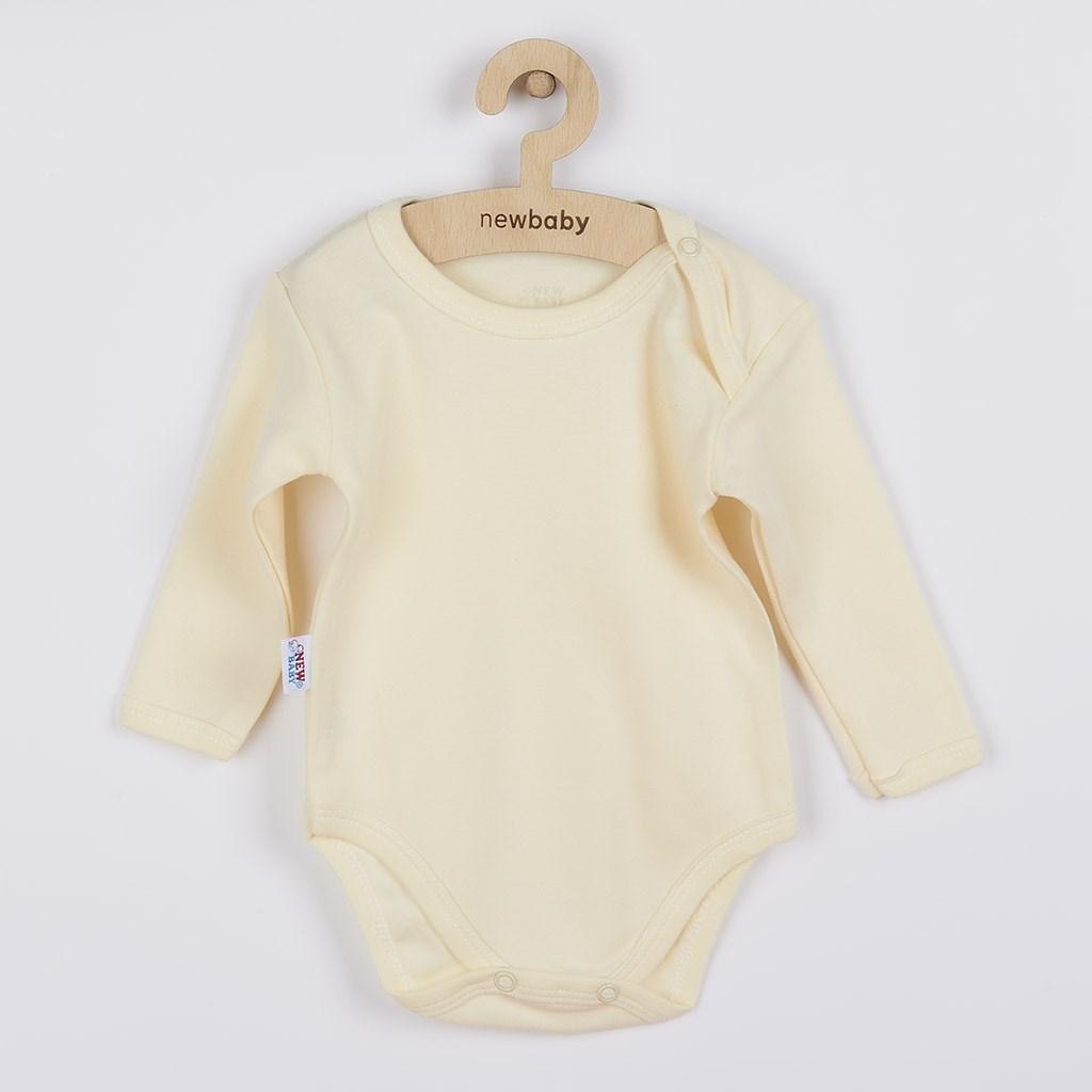 Kojenecké body s dlouhým rukávem New Baby Pastel béžové