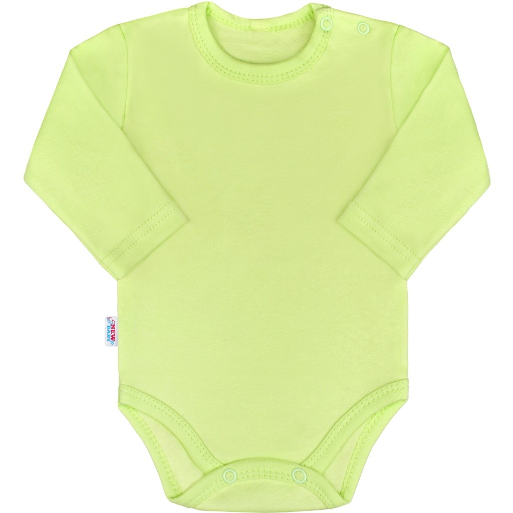 Kojenecké body s dlouhým rukávem New Baby Pastel zelené
