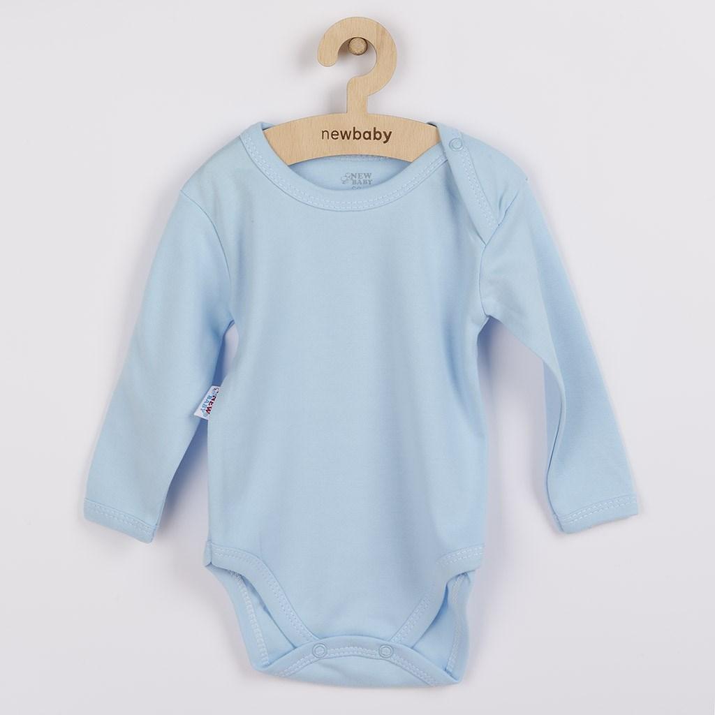 Kojenecké body s dlouhým rukávem New Baby Pastel modré