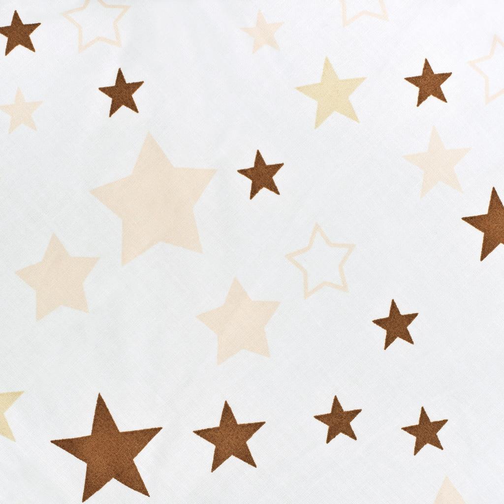 Luxusní hnízdečko s peřinkami pro miminko New Baby hvězdičky hnědé