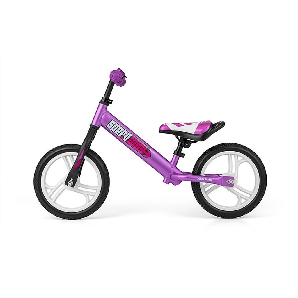 """Dětské odrážedlo kolo Milly Mally Speedway 12"""" violet"""