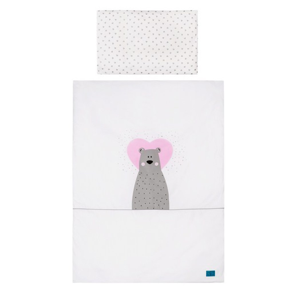 5-dílné ložní povlečení Belisima Bear in love 90/120 růžové