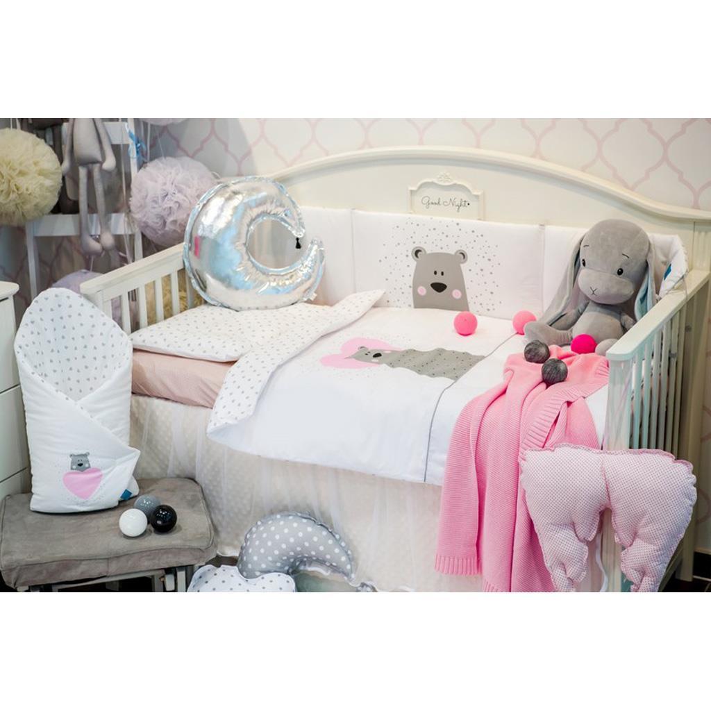 6-dílné ložní povlečení Belisima Bear in love 100/135 růžové