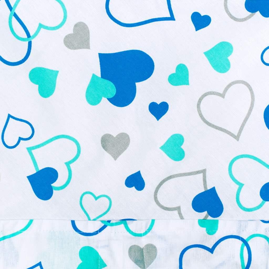 Klasická šněrovací zavinovačka New Baby modrá srdíčka