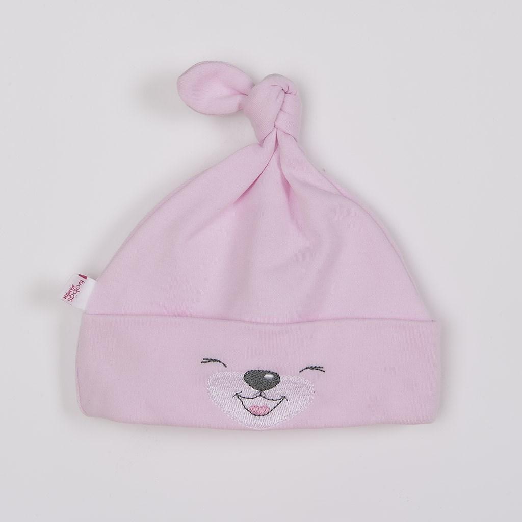 Bavlněná kojenecká čepička Bobas Fashion Lucky růžová, Velikost: 62 (3-6m)