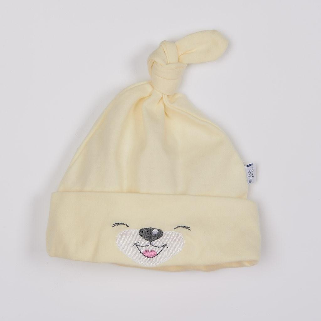 Bavlněná kojenecká čepička Bobas Fashion Lucky krémová vel. 68 (4-6m)