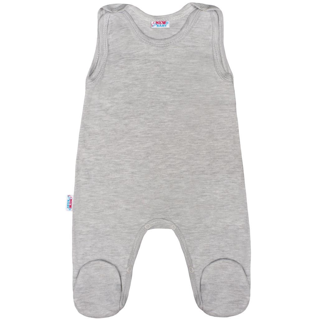 Kojenecké dupačky New Baby Classic II šedé, Velikost: 56 (0-3m)