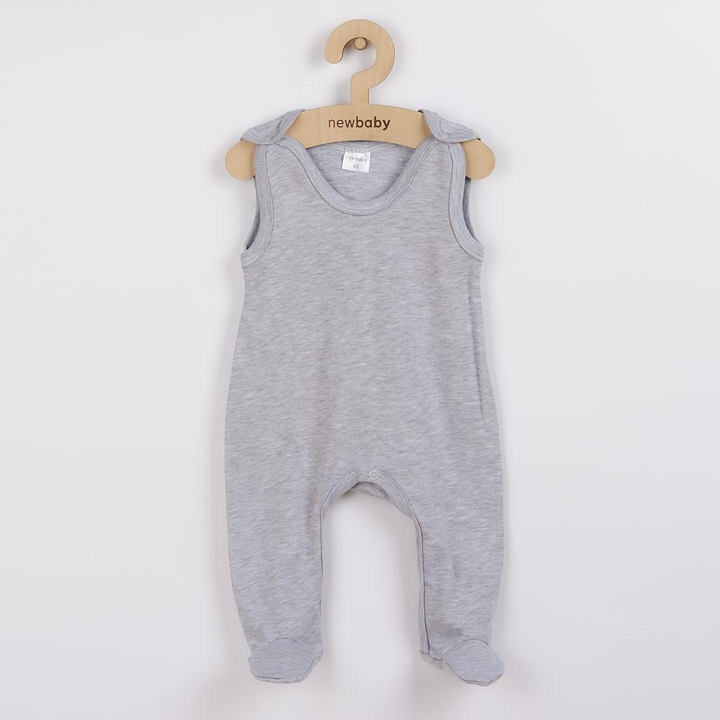 Kojenecké dupačky New Baby Classic II šedé, Velikost: 62 (3-6m)